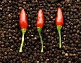 Чорний і червоний перець: користь, застосування, протипоказання до вживання фото