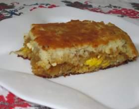 Швидкий пиріг на кефірі фото