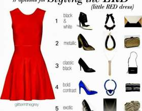 C чим носити червону сукню? фото