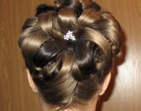 Квітка з волосся: особливості укладання. Як зробити квітку з волосся: відео фото
