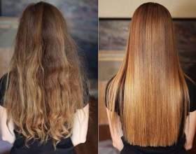 Домашнє кератіновие випрямлення волосся фото