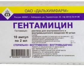 Гентаміцин уколи: показання до застосування, рекомендовані дози, відгуки про препарат фото