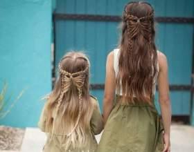Ефектні та прості дитячі зачіски на кожен день фото