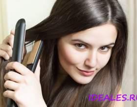 Як швидко випрямити волосся праскою фото