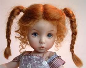 Як пофарбувати волосся ляльці фото