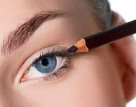 Як правильно фарбувати очі олівцем? фото