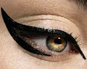 Як правильно малювати стрілки на очах фото