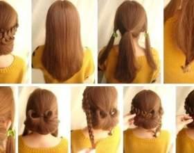 Як зробити зачіску самій собі? Варіанти з пучками, локонами і косами. Зачіски самій собі покроково фото