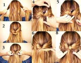 Як зробити зачіску бантик? Зачіска бантик з волосся: інструкція і відео фото