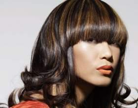 Колорування на темне волосся фото