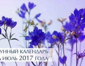 Місячний календар на липень 2017 року фото
