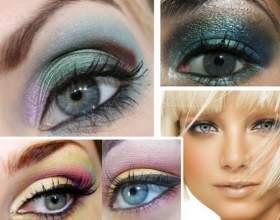 Макіяж для сіро-блакитних очей. Сполучуваність з кольором волосся і особливості вибору тіней фото