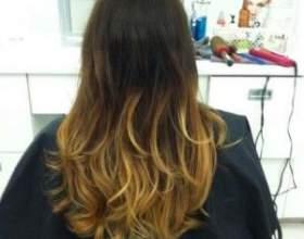 Фарбування волосся в стилі омбре фото