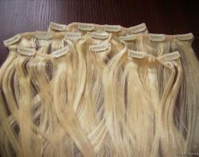 Оригінальні накладне волосся на шпильках фото