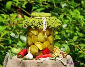Гострі зелені мариновані помідори фото