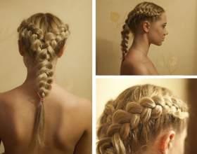 Плетіння кіс на довге волосся фото