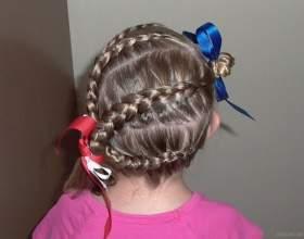 Зачіски для дівчаток на середні волосся. Прості зачіски на кожен день фото