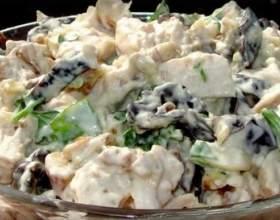 Салат з куркою і чорносливом: варіанти з волоськими горіхами, огірком і іншими інгредієнтами фото