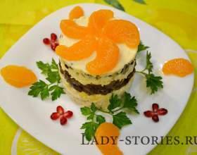 Салат з куркою і мандаринами фото