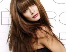 Стрижка на довге волосся з чубчиком. Чубчика в стрижках на довге волосся фото
