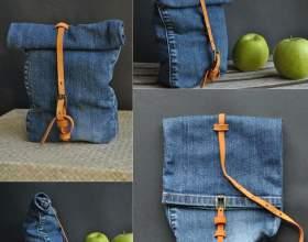 Сумка з джинсів своїми руками. Викрійки різних варіантів сумок з джинсів фото
