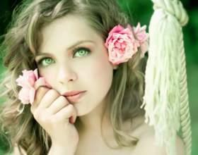 Весільний макіяж для зелених очей фото