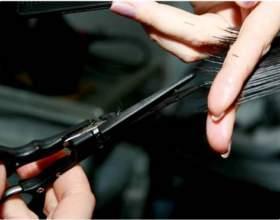 Технологія стрижки гарячими ножицями фото