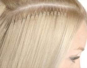 Догляд за нарощеними волоссям - капсульне нарощування фото