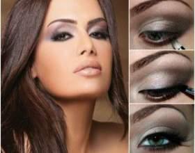 Вечірній макіяж для карих очей фото
