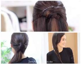 Відеоурок: прості і красиві зачіски на кожен день фото